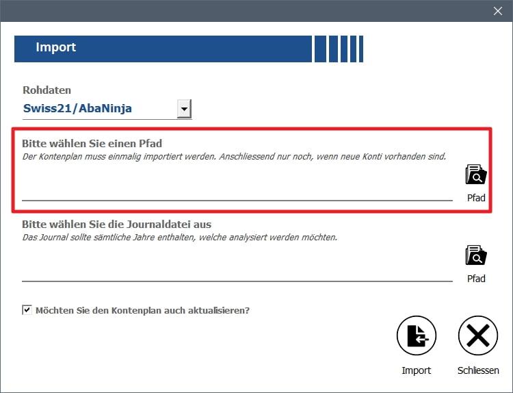 01 Swiss21 Import Kontenplan